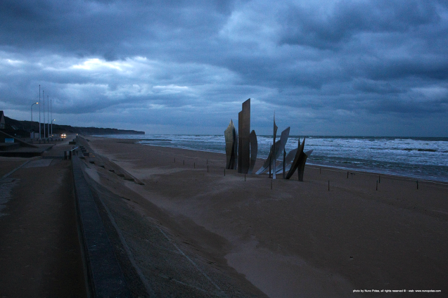 Omaha beach memorial to the allies lost souls of Normandie landings on June - 1944