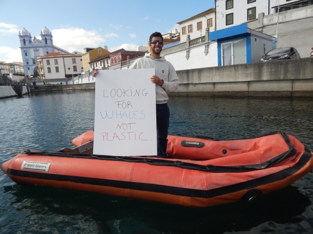 "Breno Toste  (Marine Biologist and MSc student - from Ilha Terceira (Açores) - Portugal) message is clear ""We  want to see whales and species diversity in the ocean, rather than PLASTIC in quantity!!"""